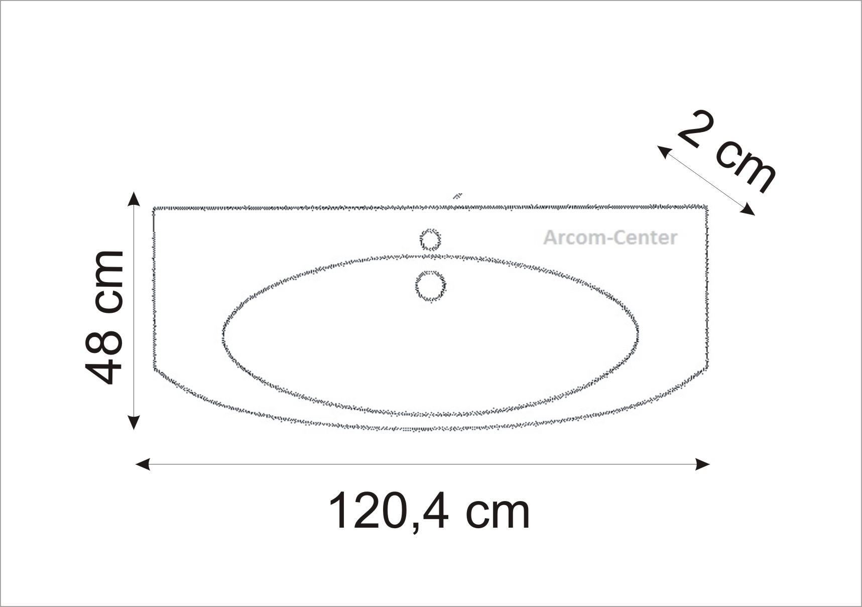 marlin bad 3100 scala waschtisch 120 cm arcom center. Black Bedroom Furniture Sets. Home Design Ideas