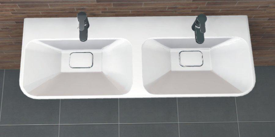 pcon waschtisch keramag myday 130 cm arcom center. Black Bedroom Furniture Sets. Home Design Ideas