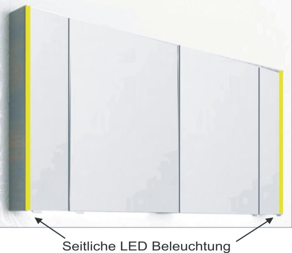 Spiegelschrank Beleuchtung Seitlich : PELIPAL PCON SPIEGELSCHRANK LEDBELEUCHTUNG 130 cm  Arcom Center