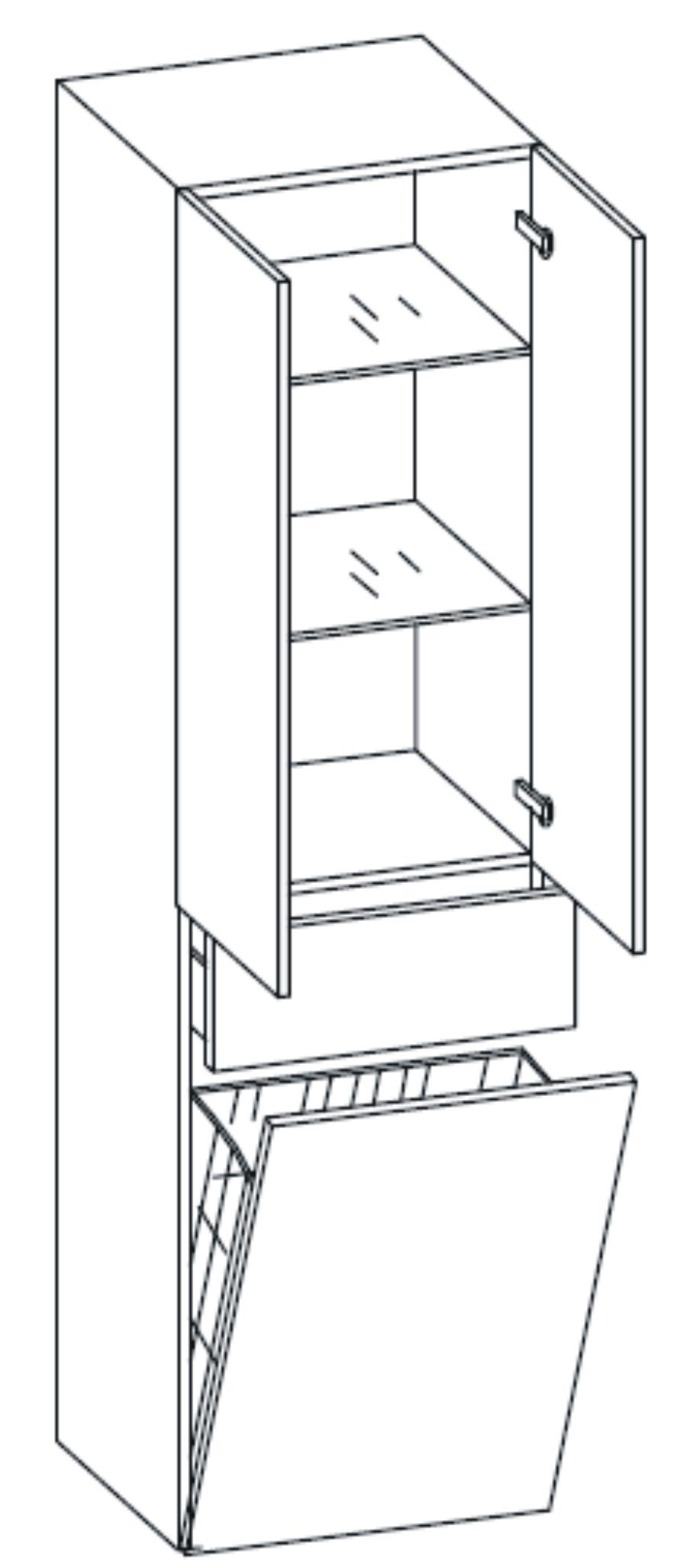 bad hochschrank mit wäschekorb | gispatcher, Badezimmer ideen