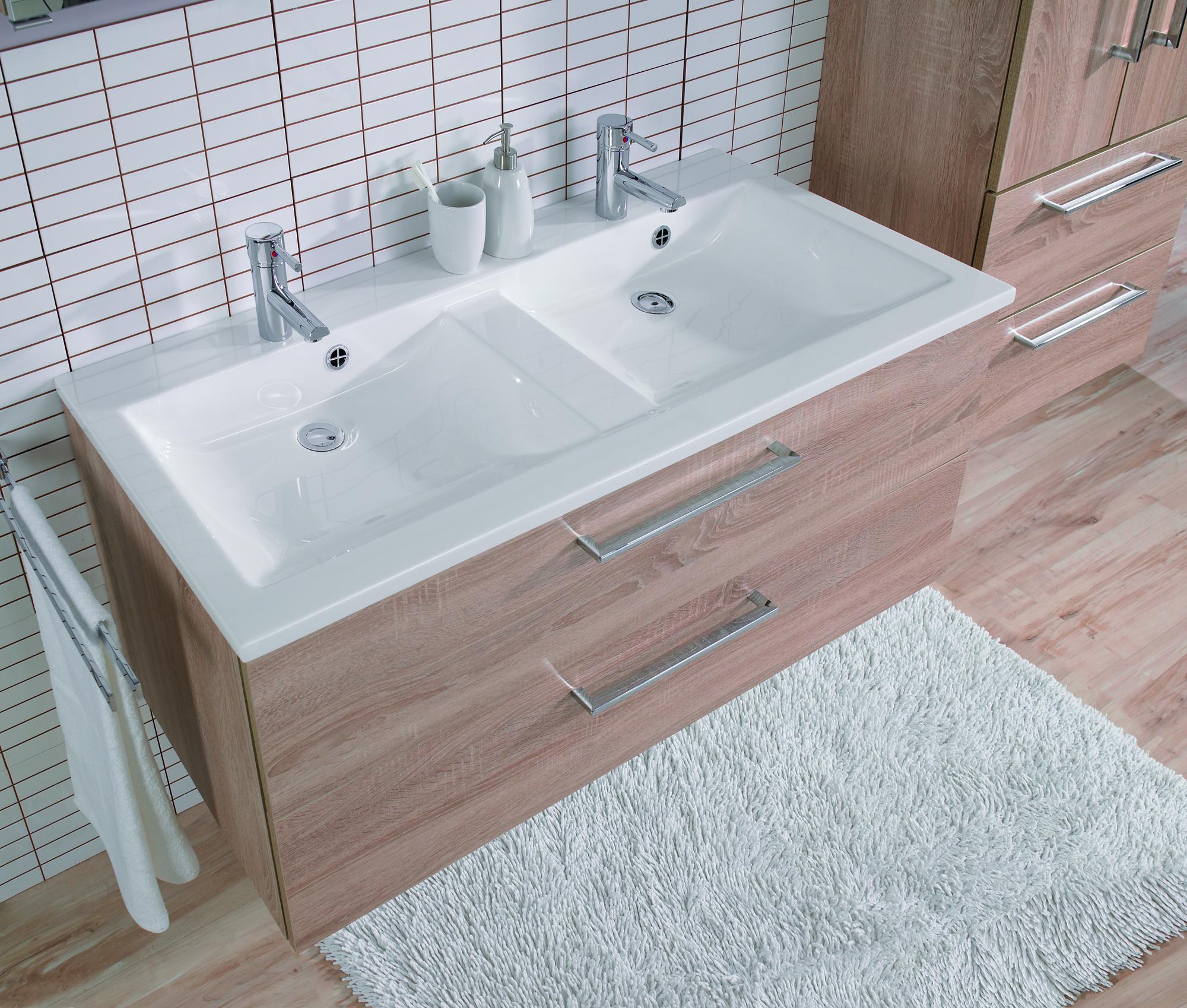 Badmöbel doppelwaschtisch günstig  Badezimmermöbel Für Doppelwaschtisch: Design badezimmer set mit ...