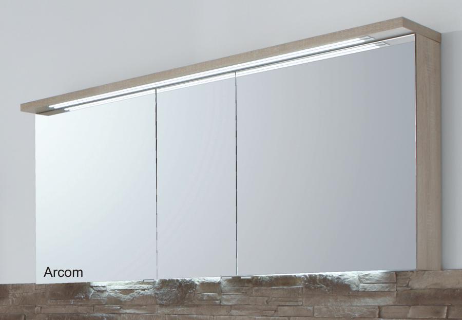 puris star line spiegelschrank 160 cm badm bel arcom. Black Bedroom Furniture Sets. Home Design Ideas