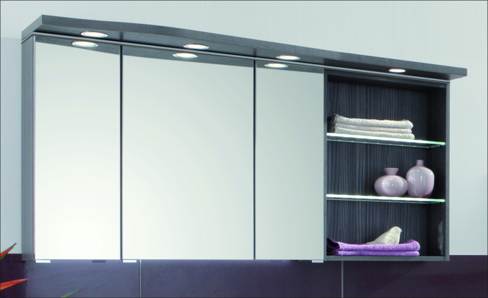 swing spiegelschrank regal rechts 140 cm serie b arcom. Black Bedroom Furniture Sets. Home Design Ideas