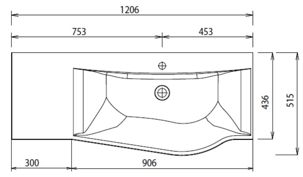 puris swing waschtisch 120 cm badm bel arcom center. Black Bedroom Furniture Sets. Home Design Ideas