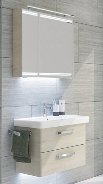 Pelipal Pineo 65 cm | Set E | Spiegelschrank mit Lichtband