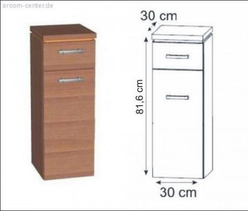 Puris Fresh Highboard | Wäschekippe 30 cm