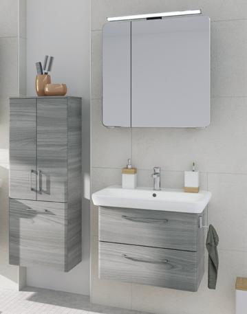 Prag 65 cm | Set D | Spiegelschrank für Aufsatzleuchte