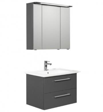 Prag 81 cm | Set A | Spiegelschrank 3D mit Kranz