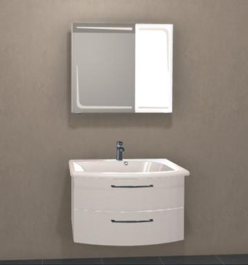 Ranna Set 85 cm | Spiegelschrank C