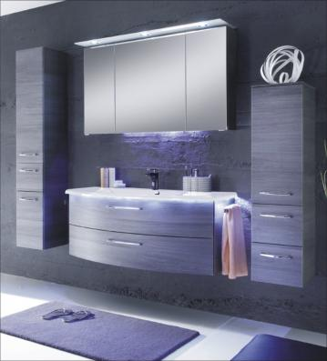 Ranna Set 124 cm | Spiegelschrank D
