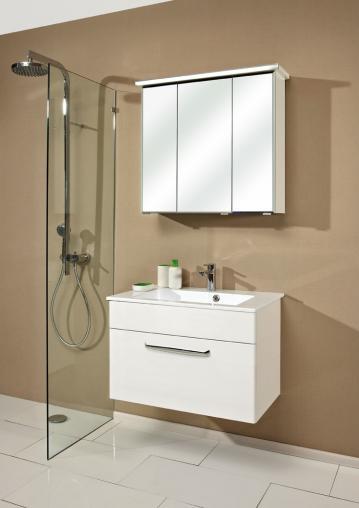 Badmöbel Trenntsee 77 cm | Set 8 | Spiegelschrank mit Profilleuchte