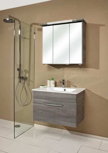 Badmöbel Trenntsee 77 cm | Set 9 | Spiegelschrank mit Leuchte T5