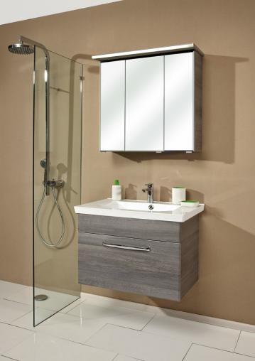 Badmöbel Trenntsee 80 cm | Set 13 | Spiegelschrank mit Profilleuchte