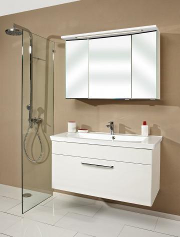 Badmöbel Trenntsee 110 cm | Set 26 | Spiegelschrank 3D