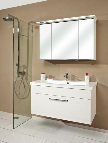 Badmöbel Trenntsee 110 cm | Set 29 | Spiegelschrank mit Leuchte T5