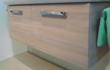 PCON WT-Unterschrank B2 | 2 Türen | 90 cm [Keramag iCon asymmetrisch Ablage rechts]