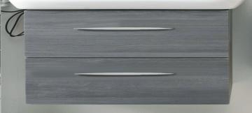 Pelipal Solitaire 9005 WT-Unterschrank F | 2 Auszüge | 120 cm [Geberit Smyle Square 2 Hahnlöcher]