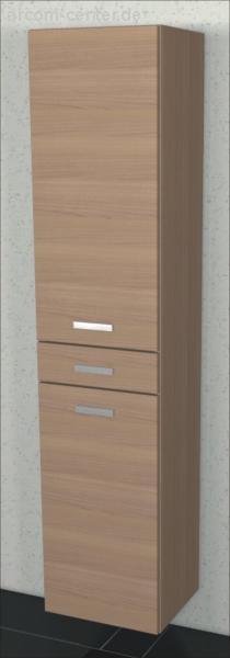 Marlin Bad 3110 | Hochschrank 40 cm mit 2 Türen + 1 Auszug