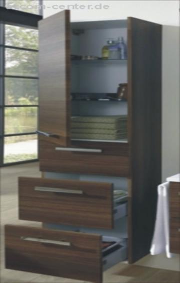 Marlin Bad 3110 | Hochschrank 60 cm mit 2 Türen + 3 Auszüge