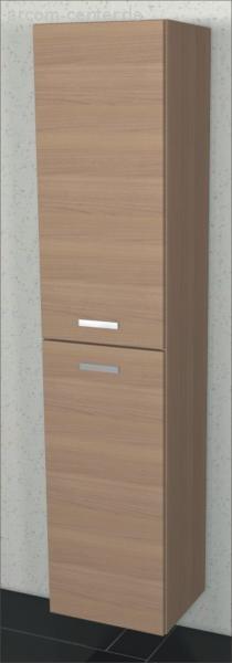 Marlin Bad 3110 | Hochschrank 40 cm mit 2 Türen [ Tiefe 17,6 cm ]