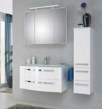 Badmöbel Pelipal Fokus 4005 Set C 90 cm | Lack Polarweiß Hochglanz