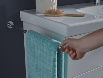 Puris Slim Line Handtuchhalter | 1 Armig + Ausziehbar