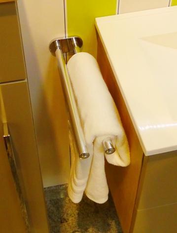 Puris Slim Line Handtuchhalter | 2 Armig + Ausziehbar