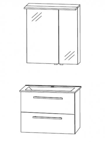 Puris Fine Line Badmöbel 60 cm | Set A