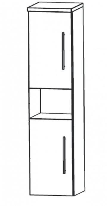 Puris Cool Line Badmöbel Hochschrank | 40 cm