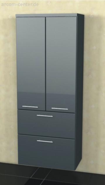 Badmöbel Marlin Bad 3130 - Azure Mittelschrank | 60 cm | 2 Türen + 2 Auszüge