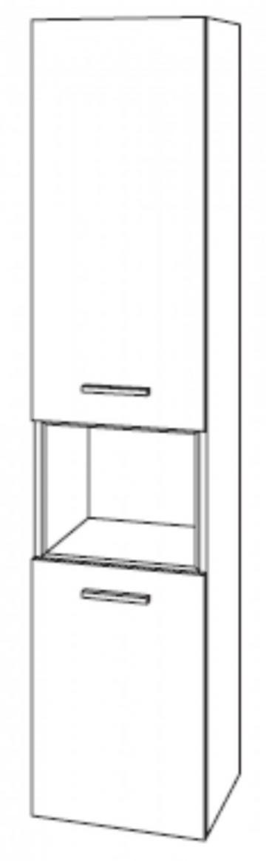 Marlin Bad 3040 | Hochschrank + 2 Türen + 1 Auszug