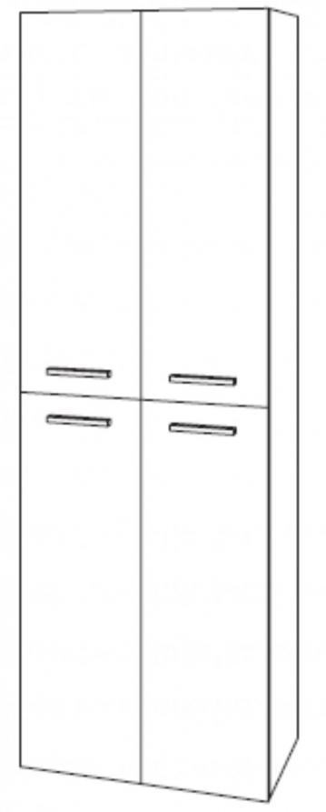Marlin Bad 3040 | Hochschrank + 4 Türen