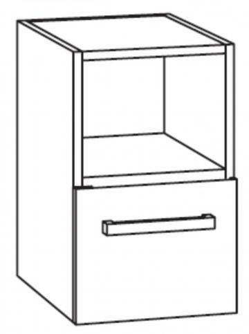 Marlin Bad 3090 - COSMO WT-Unterschrank 30 cm 1 Regal oben