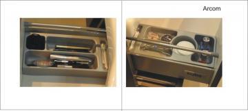 Pelipal Contea Badmöbel Kosmetikeinsatz für Waschtischunterschrank mit Drehtüren unter dem Waschtischbecken
