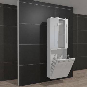 Pelipal PCON Hochschrank | 2 Türen + Wäschekippe | Breite 60 cm | Höhe 184 cm