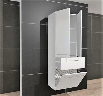 Pelipal PCON Hochschrank | 2 Tür + 1 Auszug + 1 Wäschekippe | Breite 60 cm | Höhe 168 cm