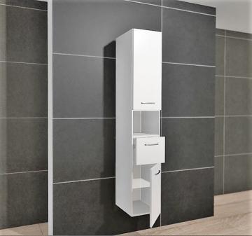 Pelipal PCON Hochschrank | 2 Türen + 1 Auszug + 1 offenes Fach | Breite 30 cm | Höhe 184 cm