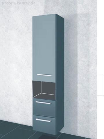 Pelipal PCON Hochschrank | 1 Tür + 2 Auszüge + 1 offenes Fach | Breite 45 cm | Höhe 184 cm