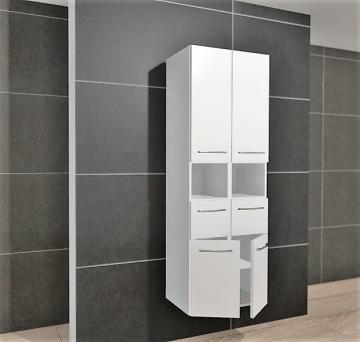 Pelipal Cassca Hochschrank 60 cm + 4 Türen + 1 Auszug + 1 offenes Regal