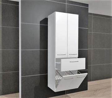 Pelipal Cassca Hochschrank 60 cm + 2 Türen + Wäschekippe