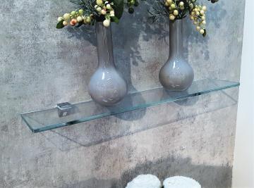 Puris Aspekt Glas Ablageboard | Breite 90 cm