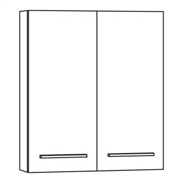 Marlin Bad 3040 - City Plus | Oberschrank 60 cm mit 2 Türen