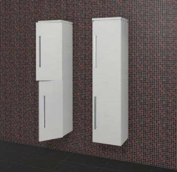 Puris Rounds Badmöbel Hochschrank 40 cm + 2 Türen | Maßvariabel