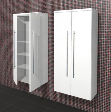 Puris Rounds Badmöbel Mittelschrank 60 cm + 2 Türen | Maßvariabel
