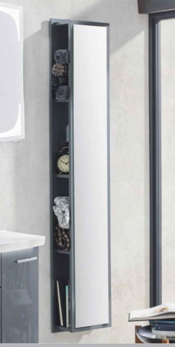 Puris Rounds Badmöbel | Hochschrank Regal + Spiegelfäche