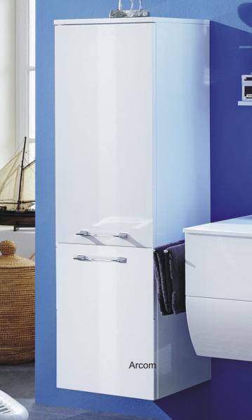Badmöbel Marlin Bad 3130 - Azure Mittelschrank | 40 cm | 2 Türen