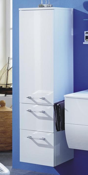 Badmöbel Marlin Bad 3130 - Azure Mittelschrank  | 40 cm | 1 Tür + 2 Auszüge