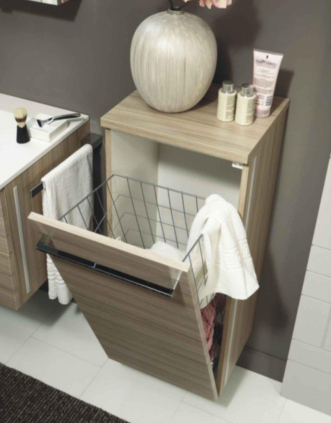 Badmöbel mit wäschekippe  Marlin Bad 3130 - Azure Highboard + Wäschekippe | - Arcom Center