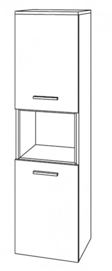 Badmöbel Marlin Bad 3130 - Azure Mittelschrank  | 40 cm 2 Türen + 1 Regal