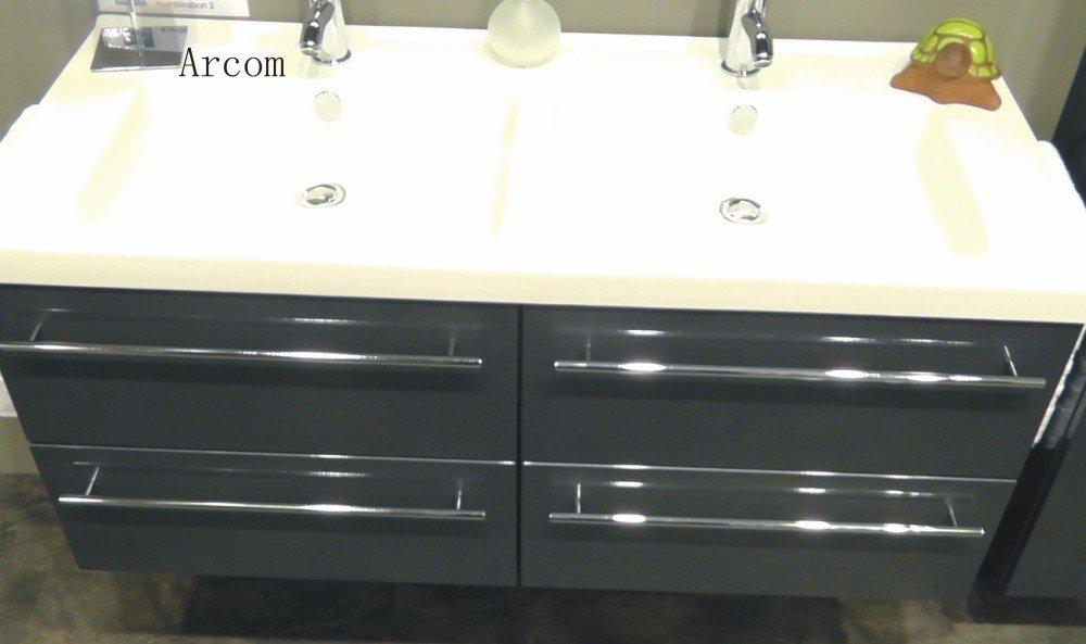 Marlin Bad 3040 - City Set J | Doppelwaschtisch 120 cm + 4 Auszüge